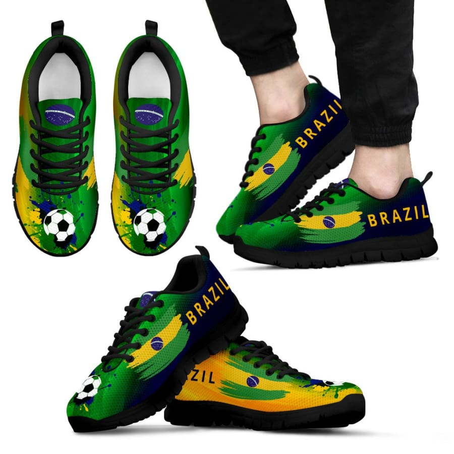 2018 World Cup Brazil Sneakers|Running Shoes For Men Women Kids - Mens Sneakers - Black - US5 (EU38)