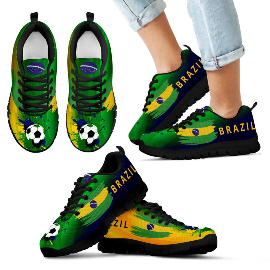 2018 World Cup Brazil Sneakers|Running Shoes For Men Women Kids - Sneakers - Black - 11 CHILD (EU28)