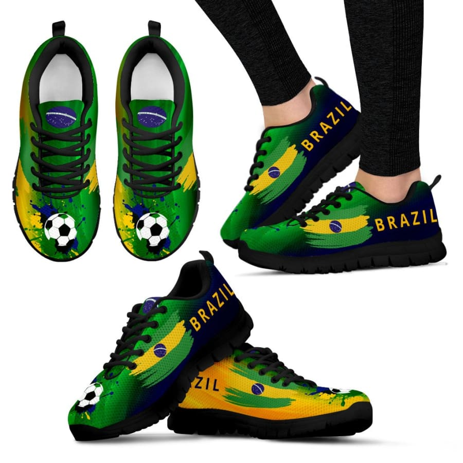 2018 World Cup Brazil Sneakers|Running Shoes For Men Women Kids - Womens Sneakers - Black - US5 (EU35)