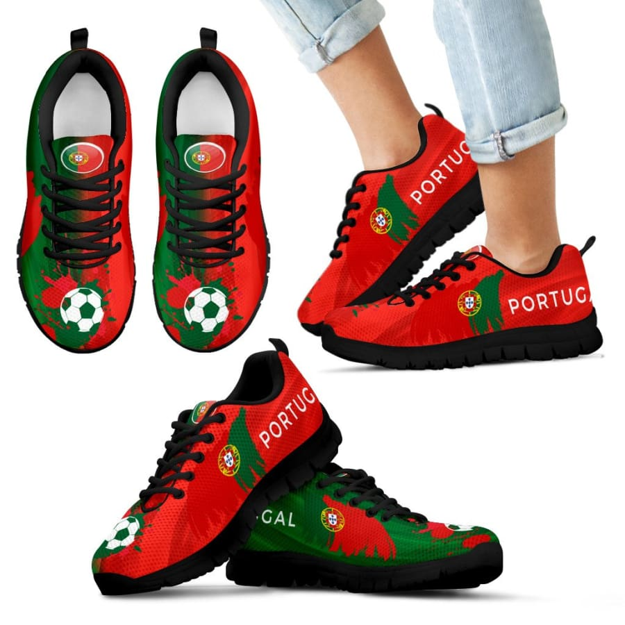 2018 World Cup Portugal Sneakers|Running Shoes For Men Women Kids - Sneakers - Black - 11 CHILD (EU28)