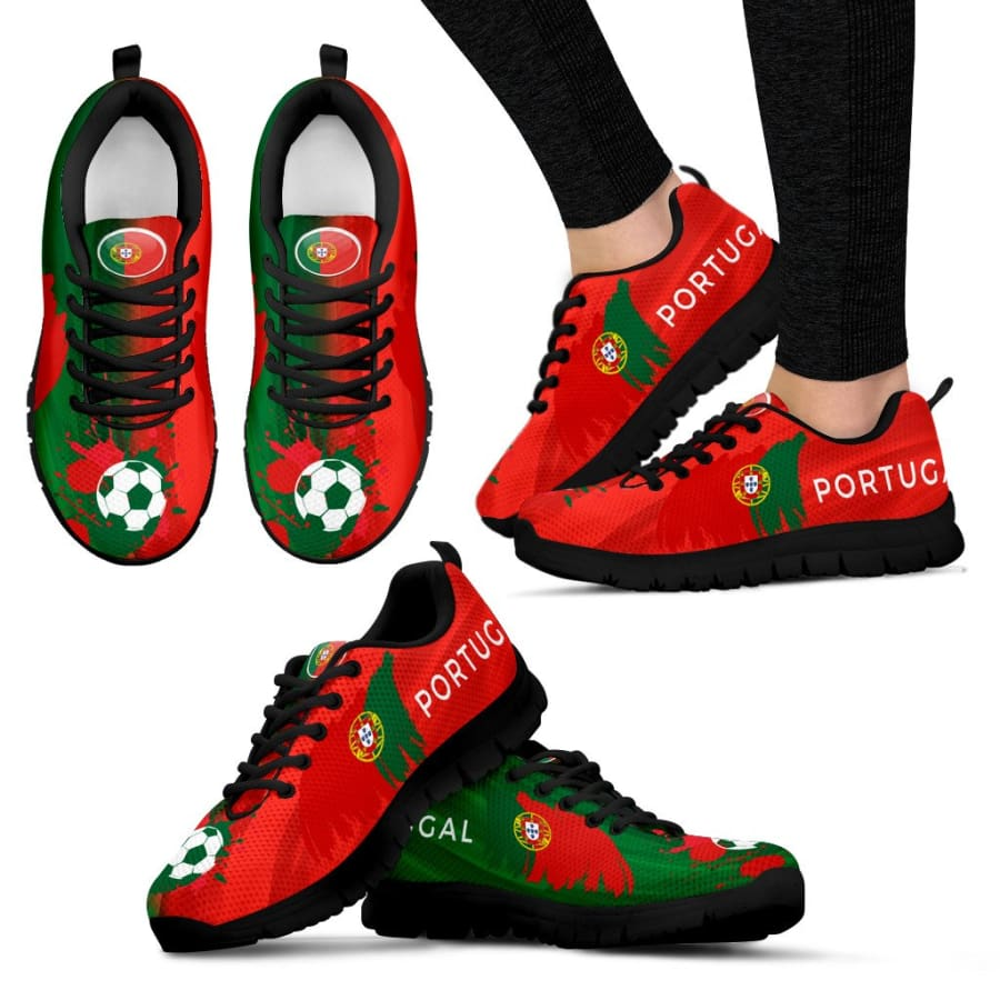 2018 World Cup Portugal Sneakers|Running Shoes For Men Women Kids - Womens Sneakers - Black - US5 (EU35)