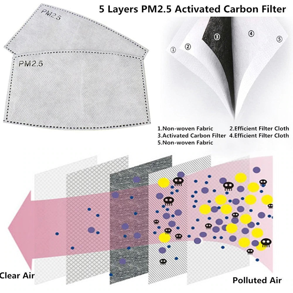 PM2.5 filter sheet  - most effective face mask