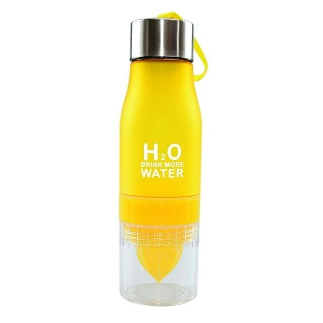 650ml Infuser Water Bottle | Drop - yellow