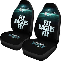 Eagles Seat Covers 2pcs| Fly Eagles Fly Car Seat Cover Super Bowl Champs
