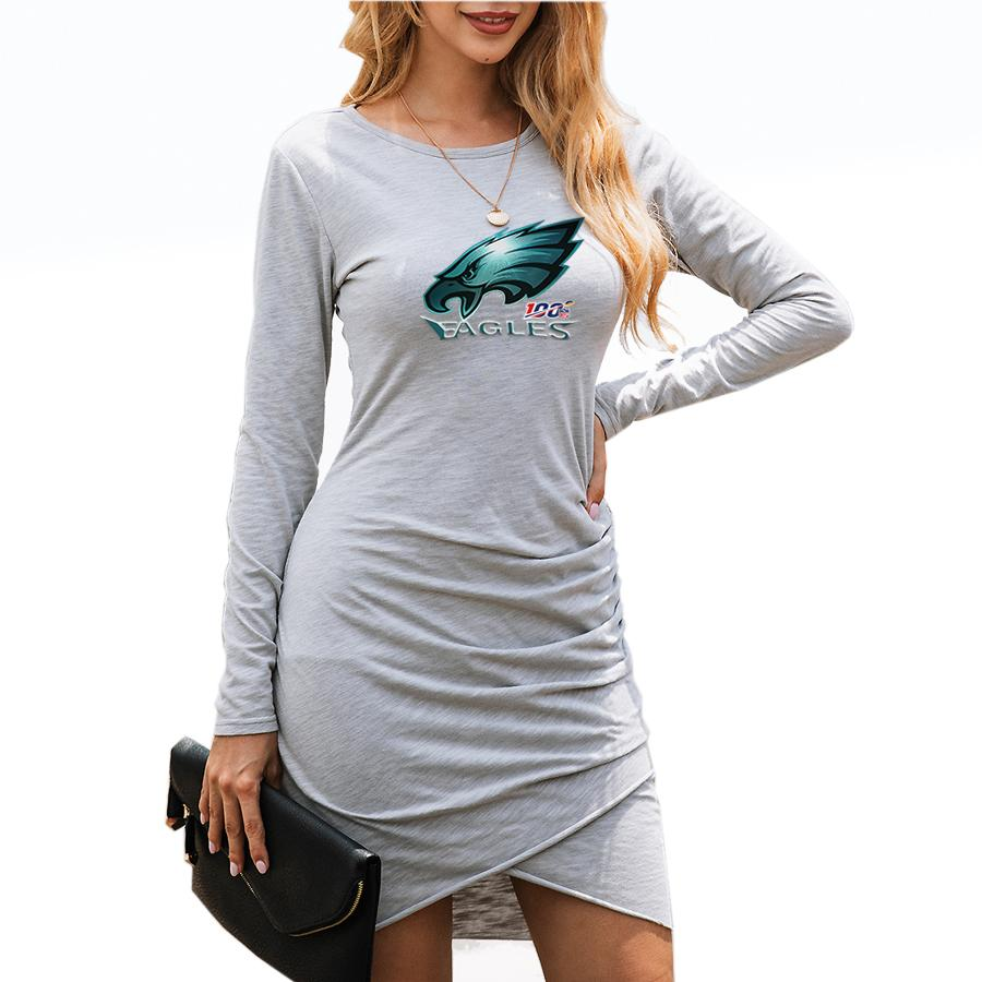 Eagles_Super Bowl_Women's Dresses Gray