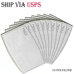 Ship Via USPS 10/20 pcs Adult/Kids 5-Layer PM2.5 Activated Carbon Filters|Mouth Mask Insert