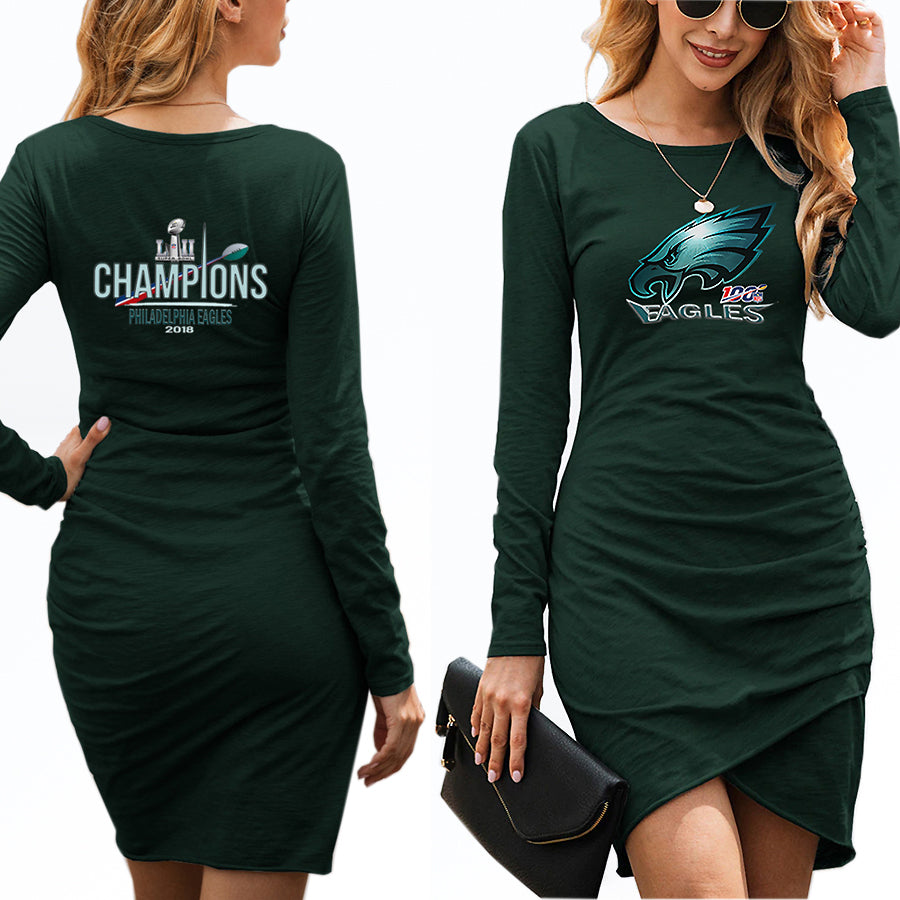Women's Eagles Dress midnight green