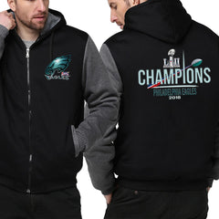 NFL 100 Philadelphia Eagles Jacket|Super Bowl Varsity Jackets|Pullover Hoodie (3 Colors)