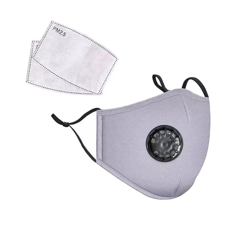 Gray PM2.5 Filter breathing Face Mask with Valve Ship from USA