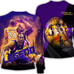 3D Full Print Kobe Bryant Sweatshirt| Legend Long Sleeve Shirt|Lakers 24 Shirts