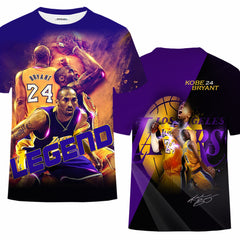 3D Full Print Kobe Bryant Shirt| Legend Shirts| Lakers 24 T shirt