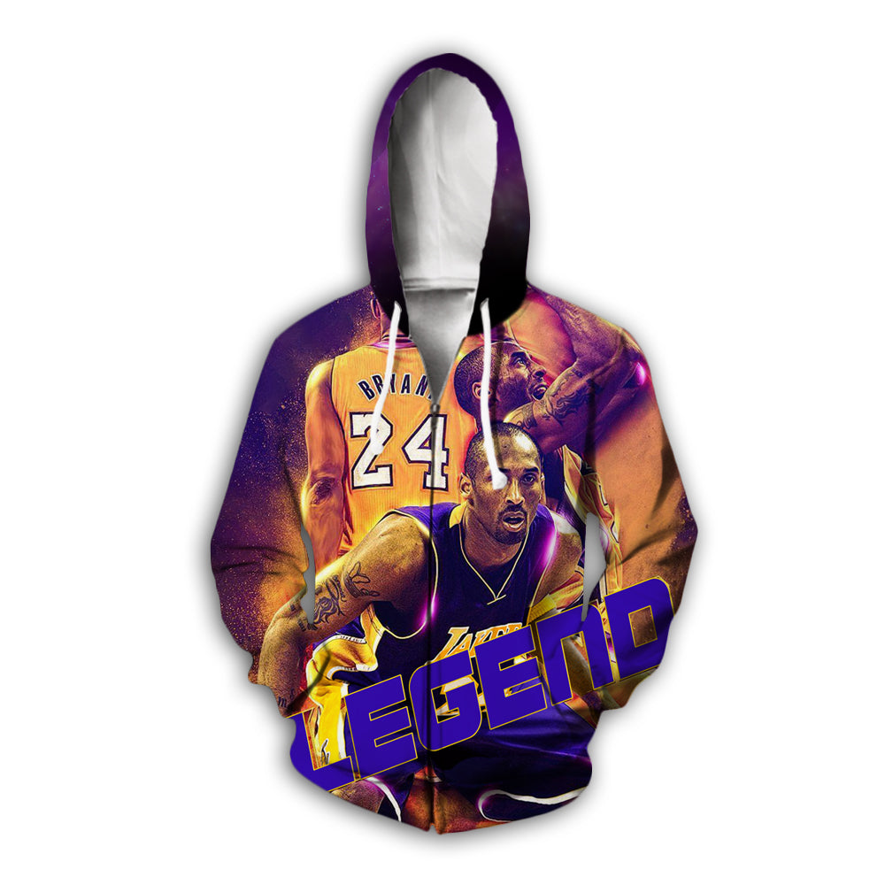 3D kobe bryant Full zip hoodies