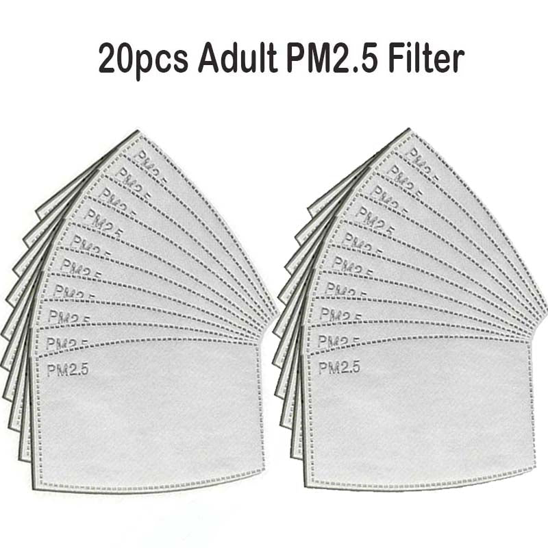 20pcs Adult PM2.5 Filter Ship From USA /Kn95 fitler