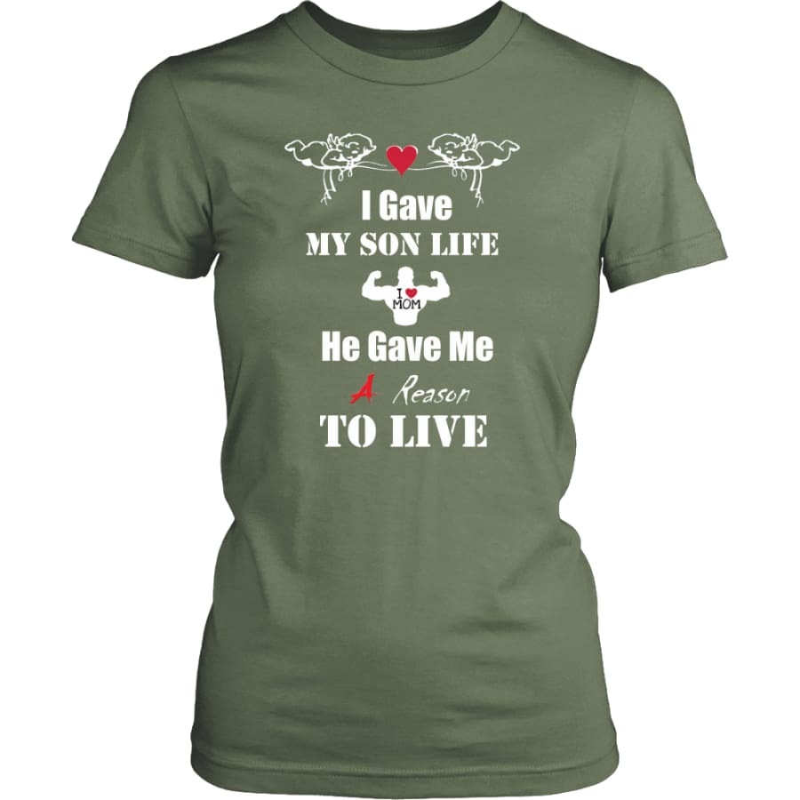 A Reason To Live - Hot Mothers Day Gift Women Shirt (8 colors) - District Womens / Fresh Fatigue / XS