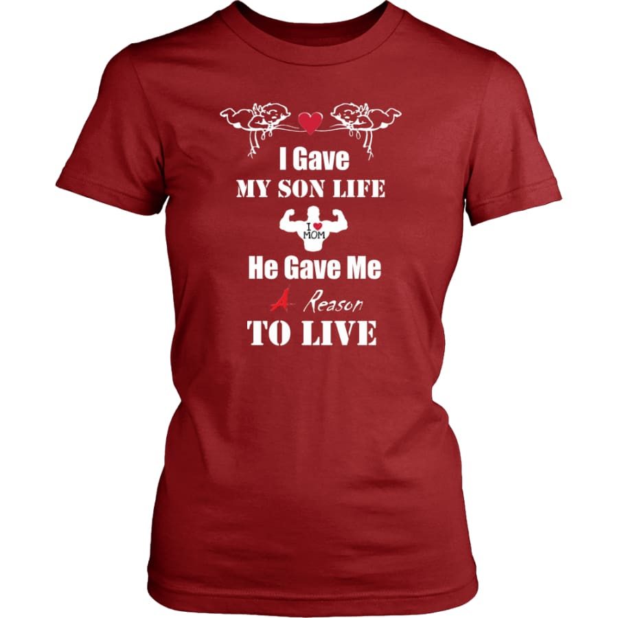 A Reason To Live - Hot Mothers Day Gift Women Shirt (8 colors) - District Womens / Red / XS