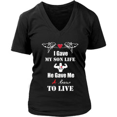A Reason To Live - Hot Mother's Day Gift Womens V-Neck T-Shirt (8 colors)