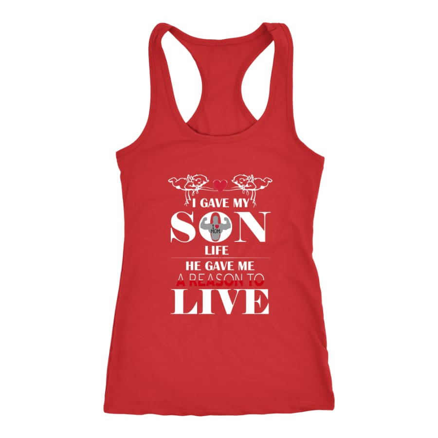 A Reason To Live - Perfect Mothers Day Gift Racer-back Tank (6 Colors) - Next Level Racerback / Red / XS
