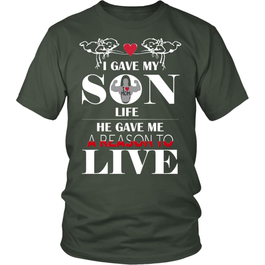 A Reason To Live - Perfect Mothers Day Gift Unisex Shirt (12 Colors) - District / Olive / S