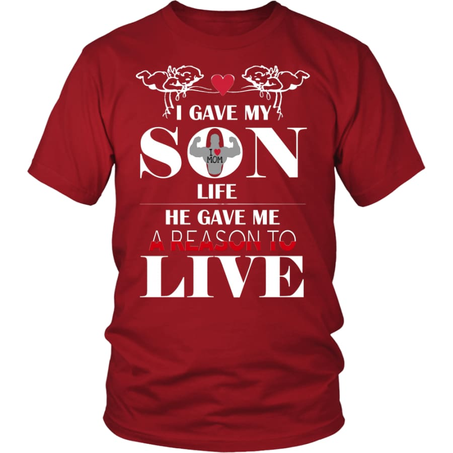 A Reason To Live - Perfect Mothers Day Gift Unisex Shirt (12 Colors) - District / Red / S