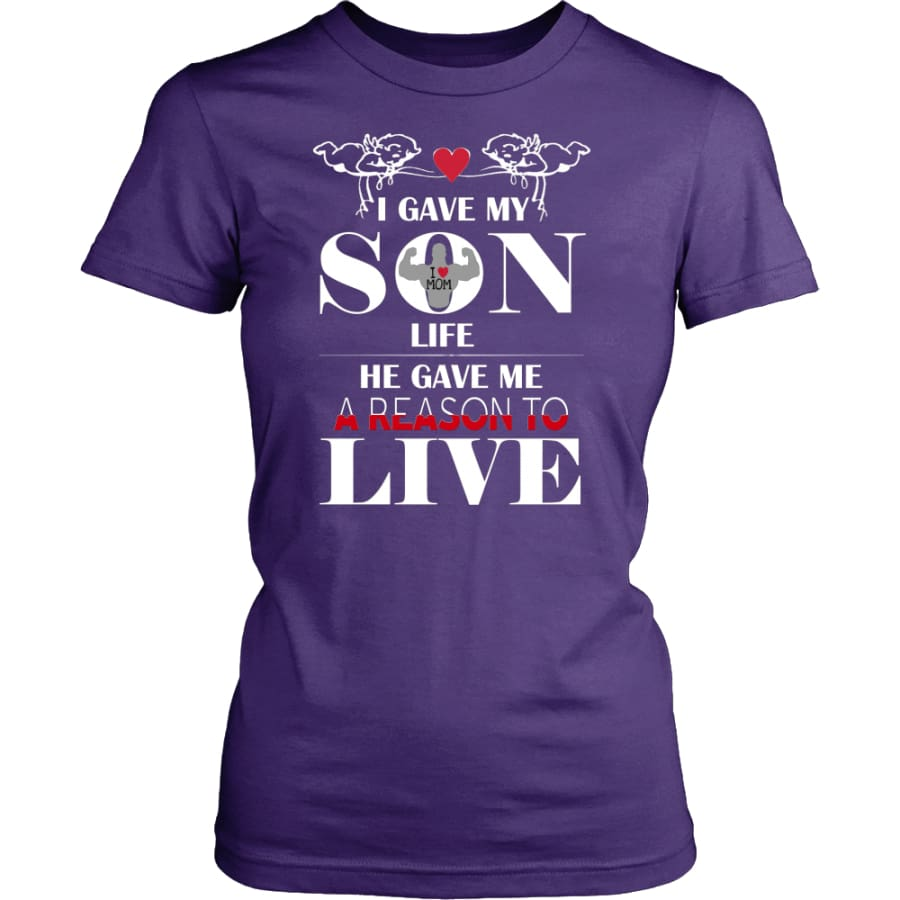 A Reason To Live - Perfect Mothers Day Gift Women Shirt (8 colors) - District Womens / Purple / XS
