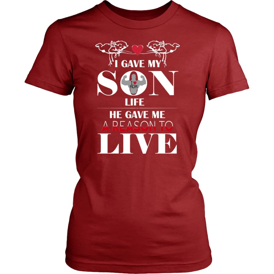 A Reason To Live - Perfect Mothers Day Gift Women Shirt (8 colors) - District Womens / Red / XS