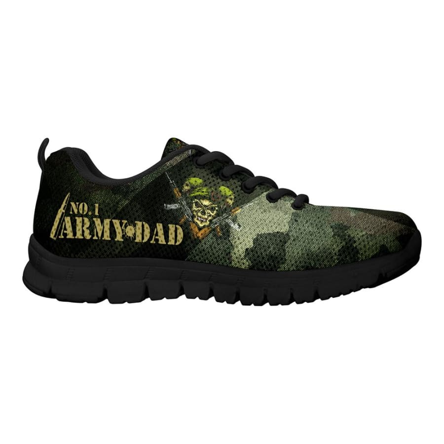 Awesome No. 1 Army Dad Sneakers Fathers Day Gift