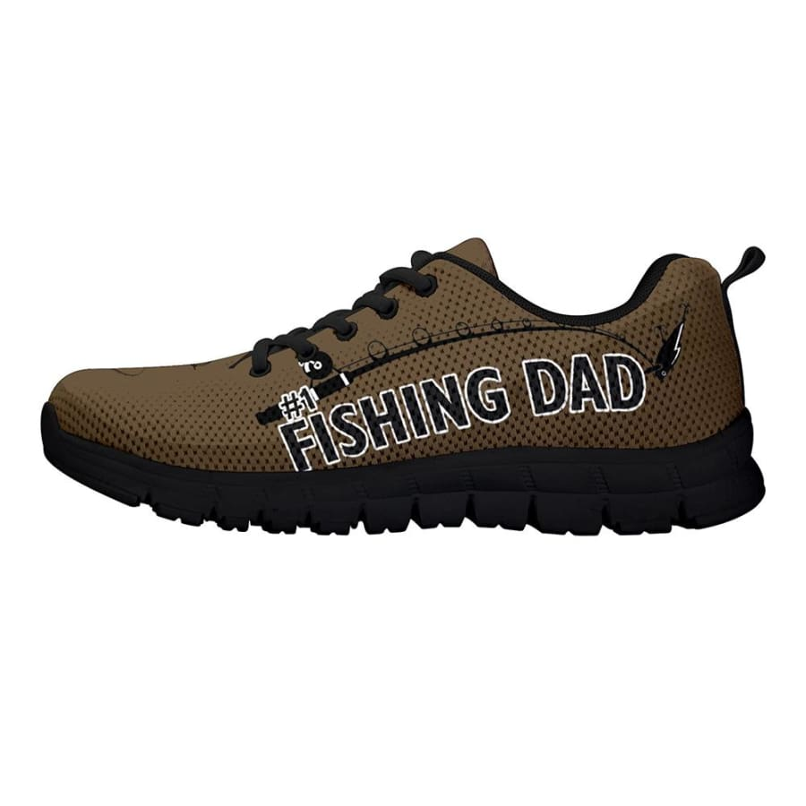 Awesome No. 1 Fishing Dad Sneakers Fathers Day Gift