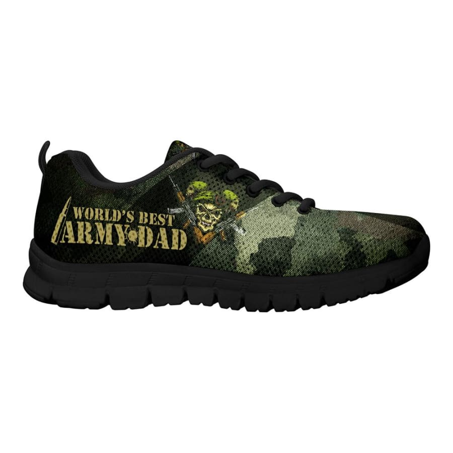 Awesome Worlds Best Army Dad Sneakers Fathers Day Gift
