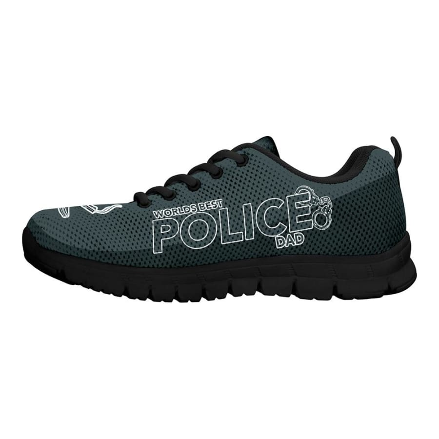 Awesome Worlds Best Police Dad Sneakers Fathers Day Gift