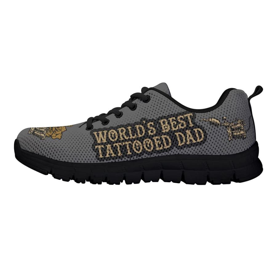 Awesome Worlds Best Tattooed Dad Sneakers Fathers Day Gift