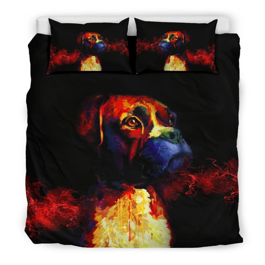 Boxer Lovers Bedding Set - King