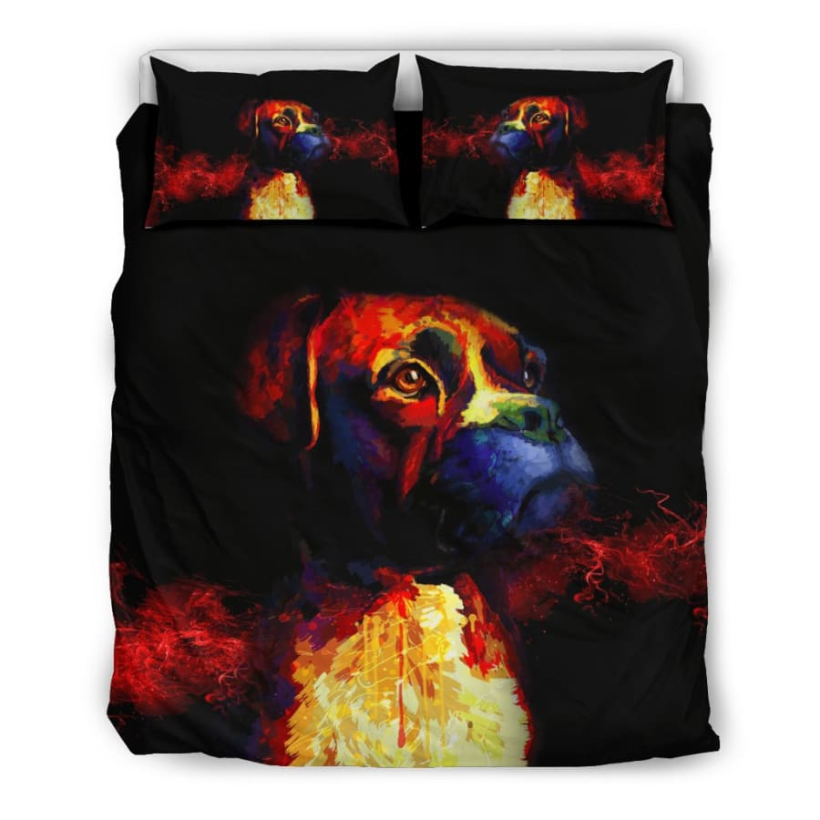 Boxer Lovers Bedding Set - Queen/Full