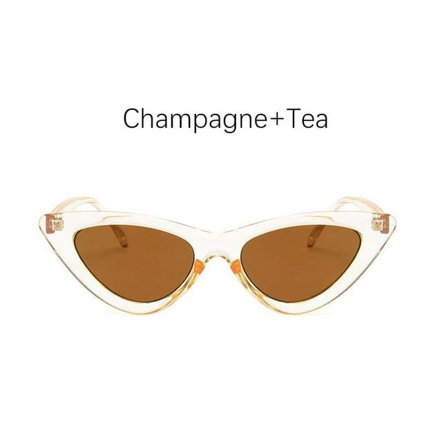 Cat Eye Sunglasses - Champagne Tea