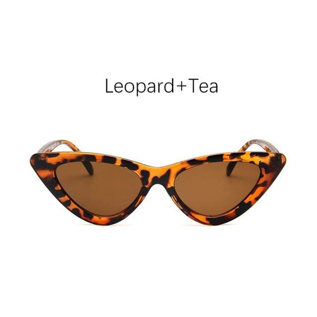 Cat Eye Sunglasses - Leopard Tea