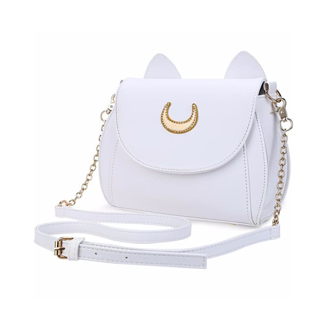 Cat Luna Moon Women Crossbody Bag (2 colors) - White