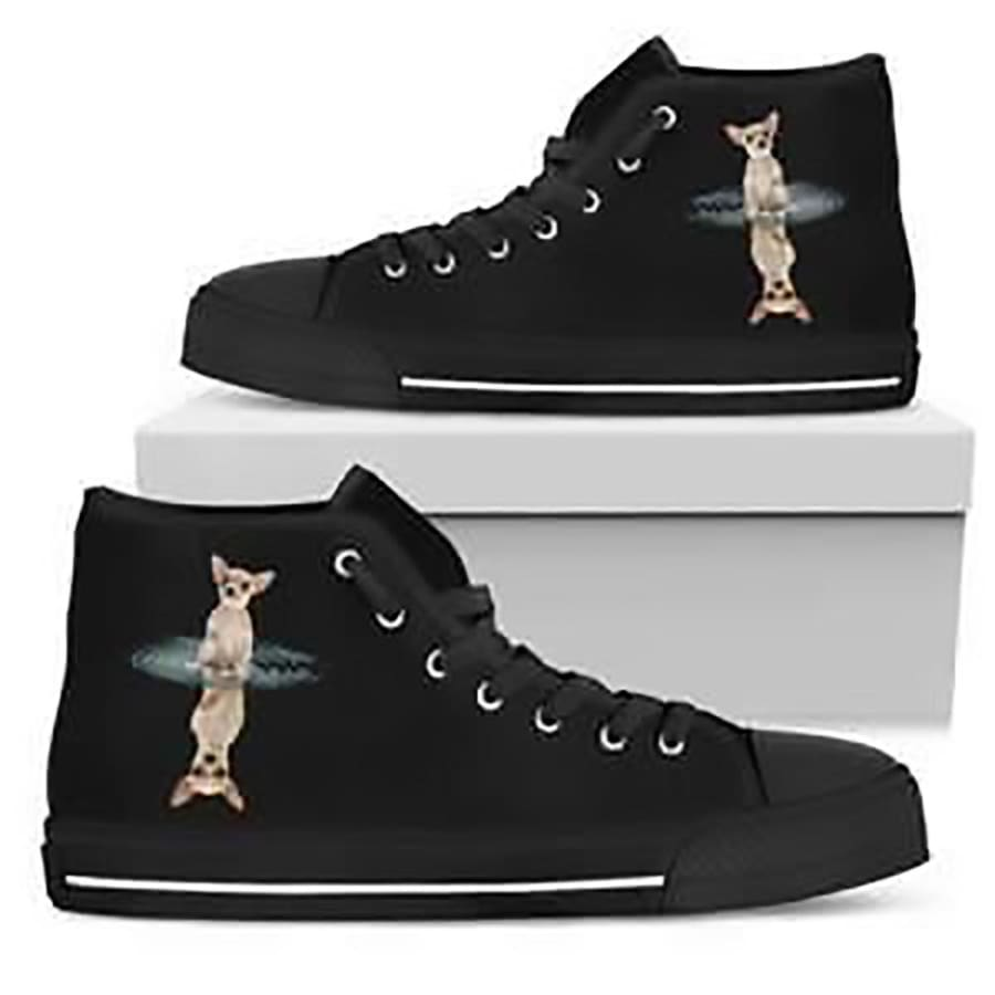Chihuahua Dream Reflect High Top Shoes Women|Dog - Womens Shoe / US5.5 (EU36)