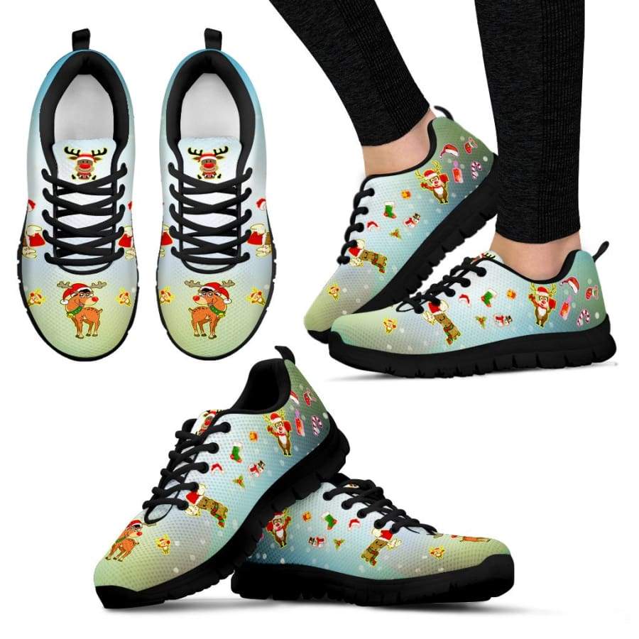 Christmas Deer Womens Sneakers - US5 (EU35)