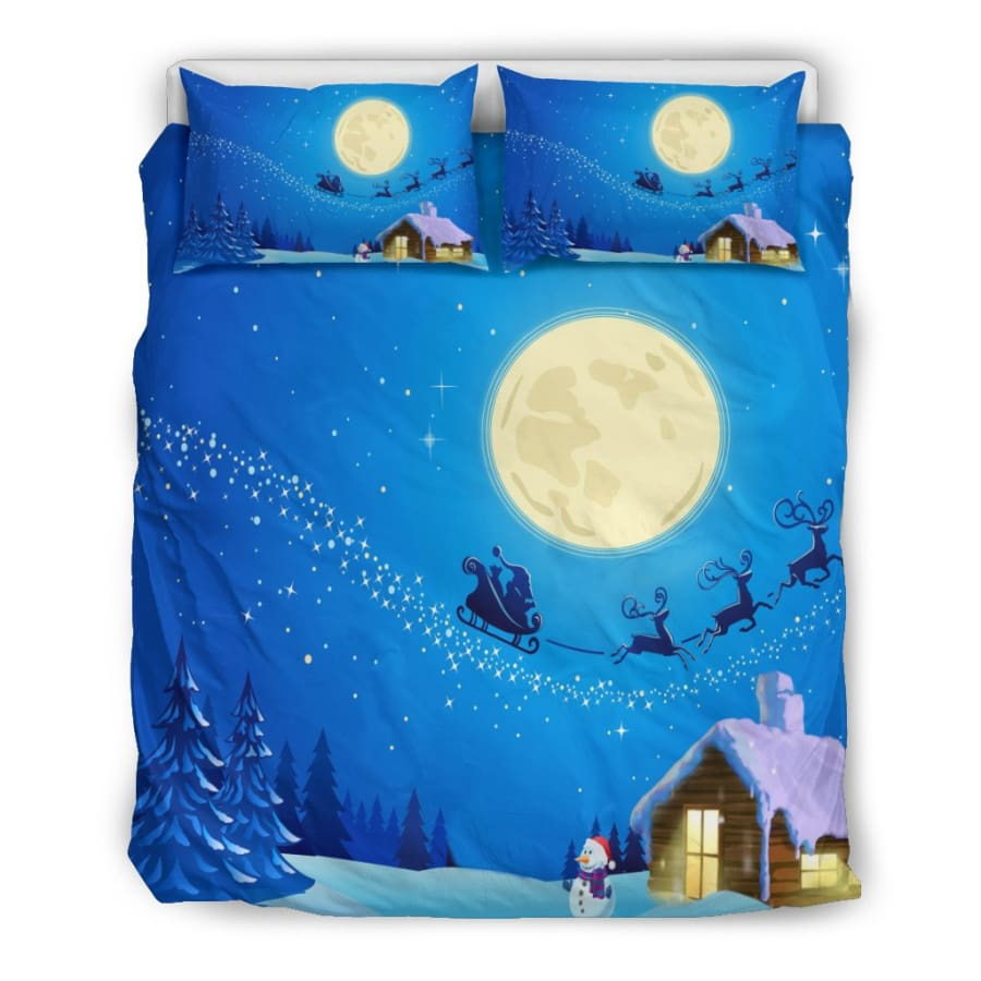 Christmas Night Moon Bedding Set - US Queen/Full