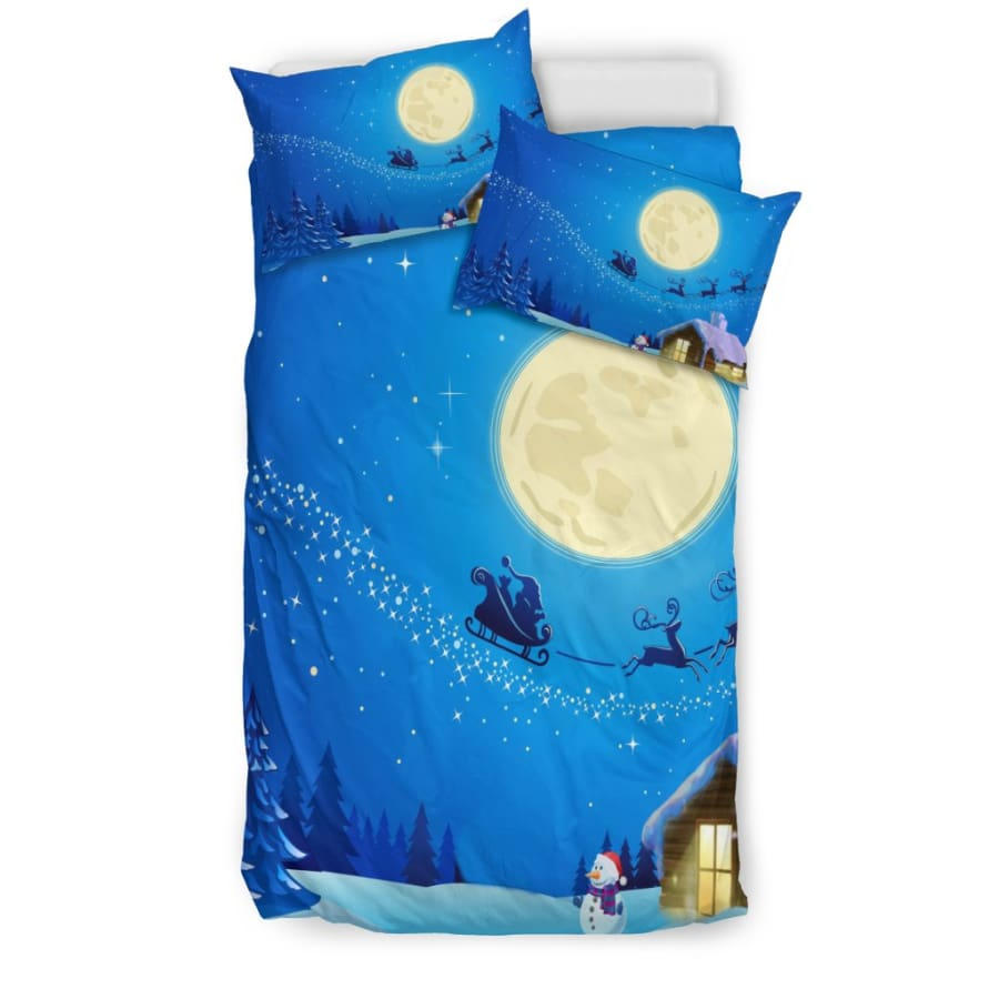 Christmas Night Moon Bedding Set - US Twin