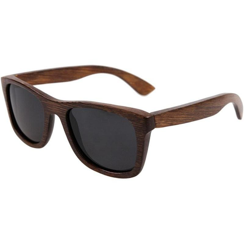 Dark Brown Full Frame Wood Sunglasses Polarized For Men Women(8 colors) - Black