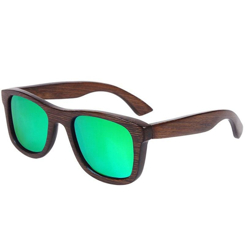 Dark Brown Full Frame Wood Sunglasses Polarized For Men Women(8 colors) - Green