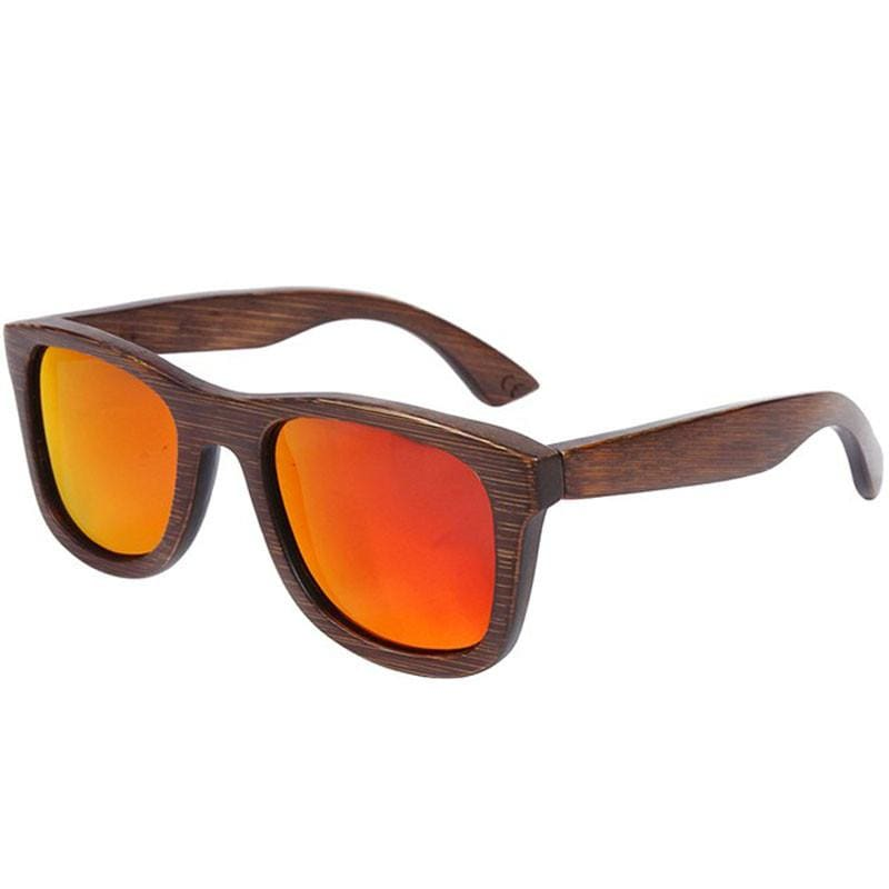 Dark Brown Full Frame Wood Sunglasses Polarized For Men Women(8 colors) - Red