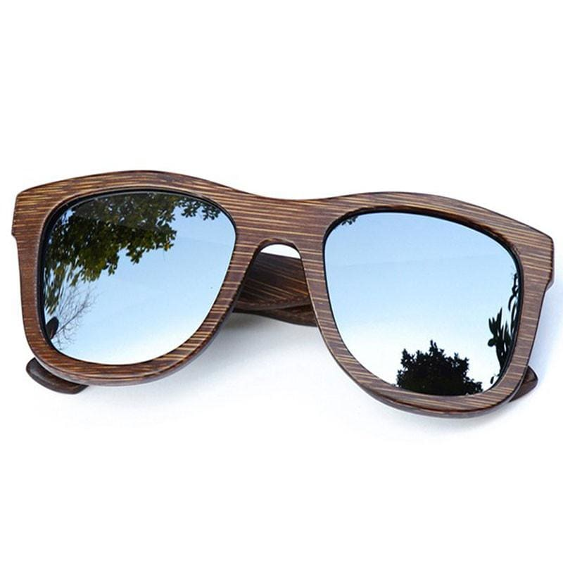 Dark Brown Full Frame Wood Sunglasses Polarized For Men Women(8 colors) - Silver