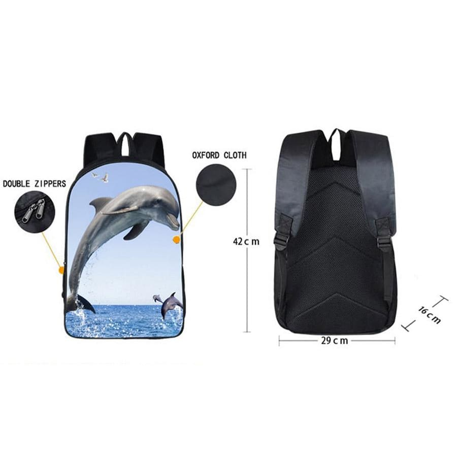 Dolphin Backpack|Backpacks for School|Laptop Backpack|College Backpack