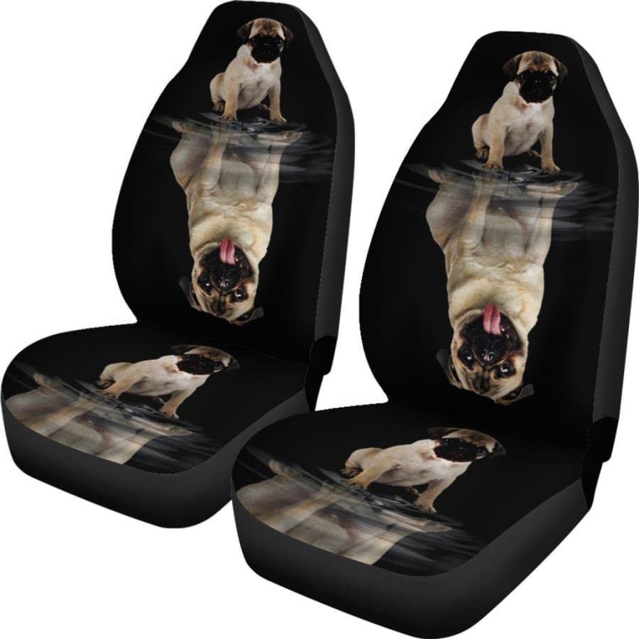 Dream Pug Car Seat Covers | Dog Cover For Black