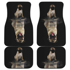 Dream Pug Front Back Car Mats 4pcs | Dog Floor Car Mat Front And Back Set