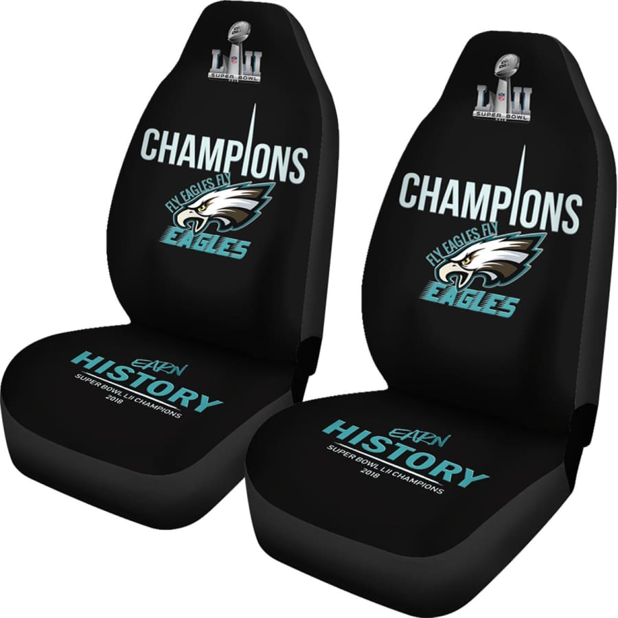 Eagles Car Seat Covers|Philadelphia Covers Set Midnight Green Black - Philadelphia Cover 2pcs Champions / One Size