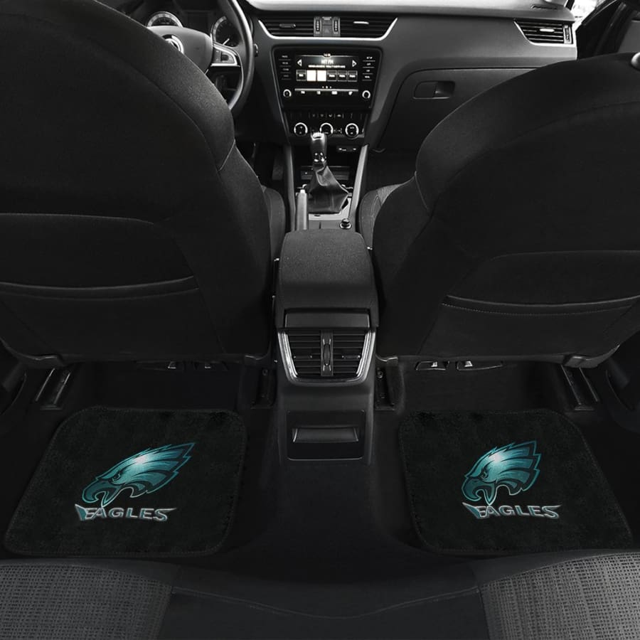 Eagles Front And Back Car Mat 4pcs Set | Super Bowl Champs Floor Mats