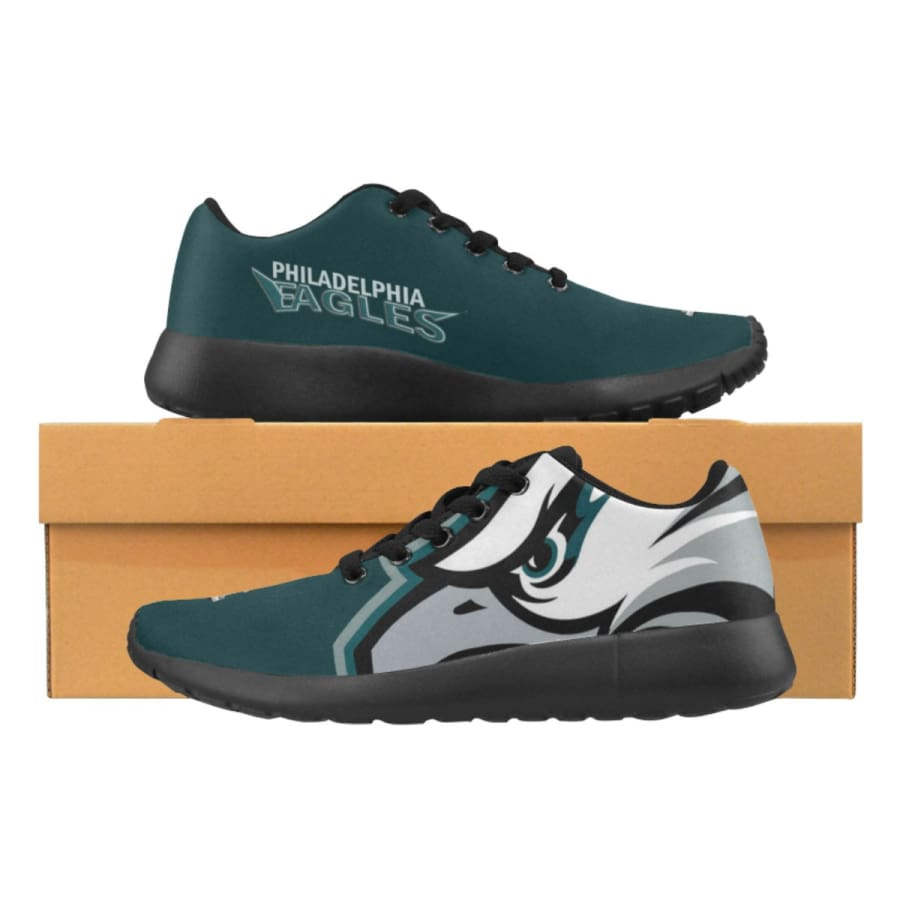 Eagles Sneakers Mens Womens Kids | Super Bowl Shoes |Running - Philadelphia (Model020) / US5 / Man