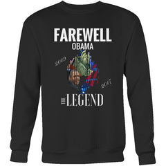 """Farewell Obama - The Legend"" Mens Womens Crewneck Sweatshirt (4 colors)"